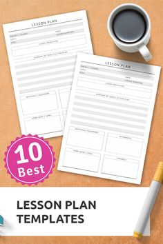 TOP 10 lesson plan templates to organize everything easily. Download printable PDF in A4, A5, Filofax. #personalizedteacherplanner #teacherplannerprintable #bestteacherplanners