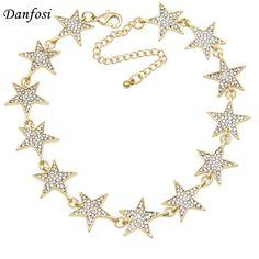 Danfosi Estrella Rhinestone Collar Torques Gargantillas Collar Joyería Declaración de lujo Maxi Collares Para Las Mujeres Bijoux Femme N4183