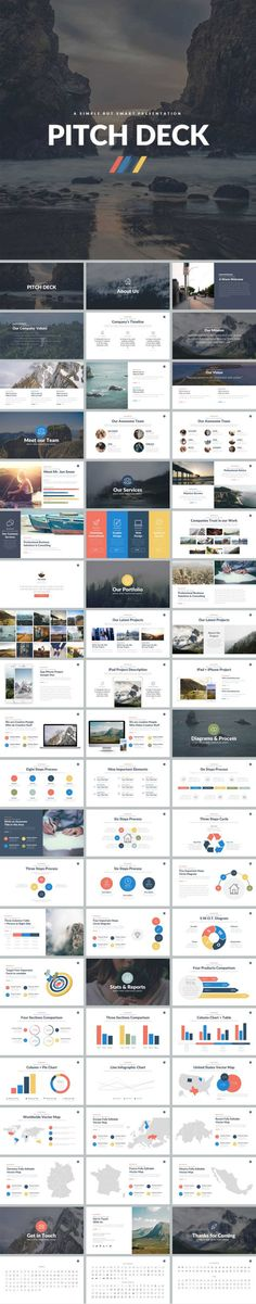Pitch Deck Powerpoint Template #diagram #statistics • Download ➝ https://graphicriver.net/item/pitch-deck-powerpoint-template/18630579?ref=pxcr