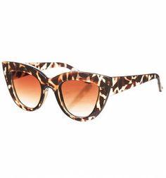 Retro sköldpadd Angelina Cats Eye solglasögon från Jeepers Peepers