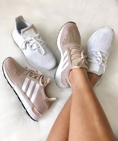 adidas Swift Run Shoes - Pink - Stylish Sneakers 188105b01caf5