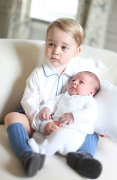We LOVE the first pictures of Prince George and his new baby sister, Princess Charlotte! They were taken by the Duchess of Cambridge in mid-May. (Pic credit: HRH The Duchess of Cambridge, via Kensington Palace) Princess Kate, Prince And Princess, Prince Harry, Princess George, Princess Photo, Princesa Charlotte, Princesa Diana, Prince William Et Kate, Prince Charles