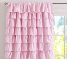 For Gracies Room Ruffle Blackout Panel From Pottery Barn Kids