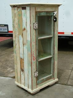 Bryan Appleton Designs creates custom cabinets with old windows for the door Furniture Projects, Wood Projects, Diy Furniture, Furniture Cleaning, Furniture Design, Repurposed Furniture, Antique Furniture, Repurposed Shutters, Rustic Furniture