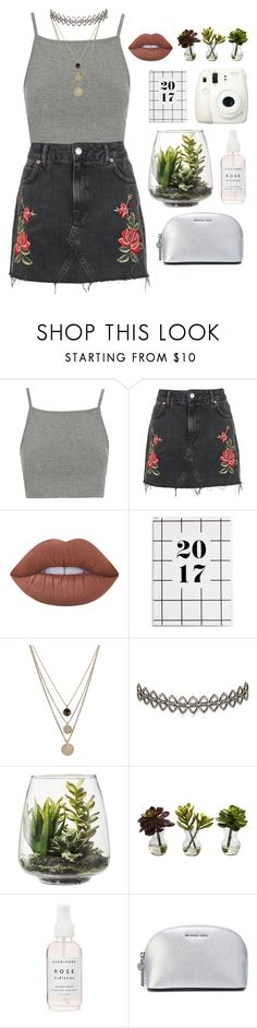 """""""Summer Party"""" by mrstilinski ❤ liked on Polyvore featuring Topshop, Lime Crime, LowLuv, Assya London, Fuji, Threshold, Nearly Natural and MICHAEL Michael Kors"""