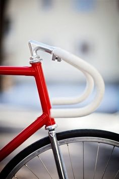 bicycle, red, fixie
