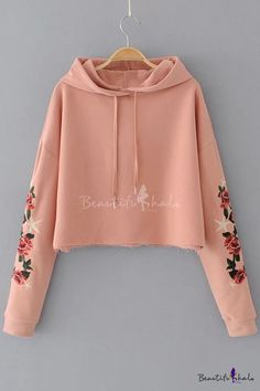 Details Hoodie design Long sleeve Embroidery Long sleeve Polyester / Cotton Machine wash Size Chart SIZE S M L XL Sleeve(cm) 51 52 53 54 Sleeve(in) Length(cm) 46 47 48 49 Length(in) Bust(cm) 108 112 116 120 Bust(in) Girls Fashion Clothes, Winter Fashion Outfits, Girl Fashion, Crop Top Hoodie, Cropped Hoodie, Long Hoodie, Cute Lazy Outfits, Stylish Outfits, Teenager Outfits