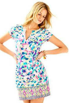 827e62d6a4 Stay chic and sun protected in the Lilly Pulitzer UPF Sophiletta Dress in  Pina Colada Club. The engineered print will stop traffic as you adventure.