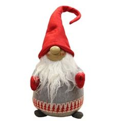 With his rosy cheeks and big grin this adorable gnome is certain to delight any visitors who happen to see him Features a gray body, red mittens, red hat, an 31751541