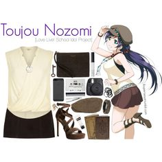 Toujou Nozomi [Love Live! School Idol Project] by ibuperisesat on Polyvore