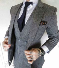 Instagram media by inspirations_style - Amazing style inspiration by our friend @damienbroderick Awesome 3 piece suit Follow @inspirations_luxury @inspirations_streetwear