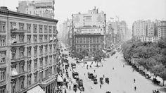In un'unica foto Broadway e FifthAvenue nel '900.  #photo #vintage #fotografia #StatiUniti #Usa #biancoenero