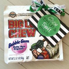 Sports gift, team gifts. Team mom Big League Chew Gift Tags Baseball Team Good Luck Favor Gift Tags PDF file by EllaJaneCrafts