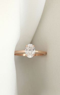 VOW: 1ct Oval Rose Gold Engagement Ring  Free home try-on, modern design and 100% conflict-free diamond.   Visit VOW  and test drive your dream ring today.