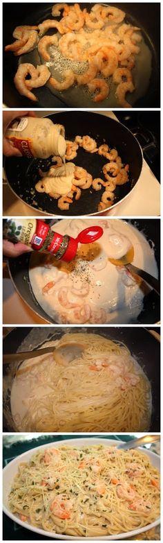 How To Easy Shrimp Alfredo
