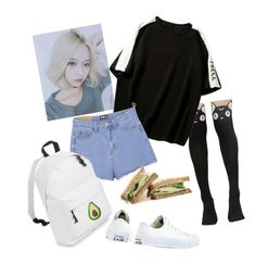 """Untitled #125"" by sadcheese on Polyvore featuring Killstar, WithChic and Converse"