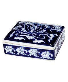 Look what I found on #zulily! Royal Blue Dynasty Trinket Box #zulilyfinds