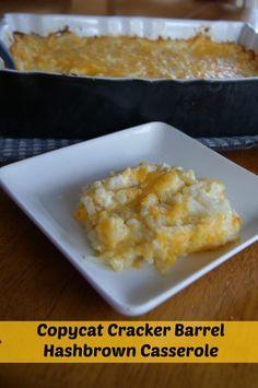Cracker Barrel Hashbrown Casserole Copycat Recipe #recipes #copycat #crackerbarrel http://bargainbriana.com/cracker-barrel-hashbrown-casserole-copycat-recipe/