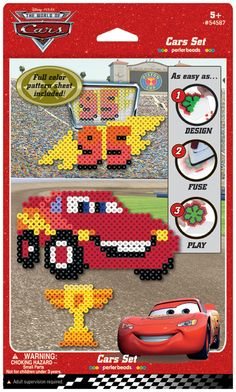 Perler Fuse Bead Cars