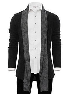 Product review for Tom's Ware Mens Classic Fashion Marled Open-Front Shawl Collar Cardigan.  A classic fashion shawl cardigan from Tom's Ware is designed and MAde in Korea ( south) It's fitted with a comfortable collar as a shawl and will easily compliment a pair of skinny jeans or khakis a button up shirt ( or just a fashion Slim T-shirts),Some dressy combat boots, very...