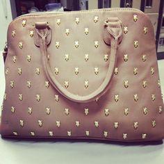 Cute Betsy purse ! Skulls Beige Purse Leather Cute Funky Mod