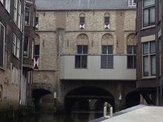 Mediëval backside of townhouse of Dordrecht. Holland. Photo by Isabelle Vogel