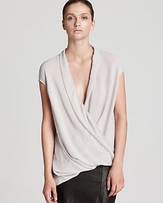 88dd1ec343a71e Helmut Lang Top - Soft Shroud Twisted Drape