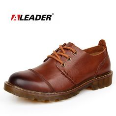 Aleader Men Leather Shoes Casual New 2016 Genuine Leather Shoes Men Oxford Fashion Lace Up Dress Shoes Outdoor Work Shoe Sapatos  EUR 28.49  Meer informatie  http://ift.tt/2shMEBj #aliexpress