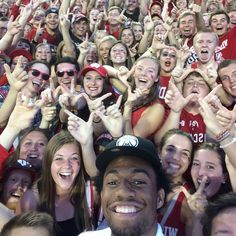 Milwaukee Bucks: The Milwaukee Bucks one of the USA's most famous basketball teams. Here, one of the team's stars, Jabari Parker, took a break from his training to set up and take this amazing selfie with a large group of fans. The team posted it to its Twitter feed to celebrate National Selfie Day.