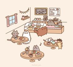 Pusheen Cafe | Pusheen | Know Your Meme
