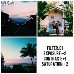 •VSCO CAM• ☆sunset filter ☆ Look best with:Sunset and outdoor feed
