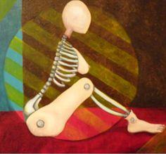 Original Oil Painting Nude Abstract Surreal by TrulyOriginalArt