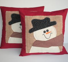 Snowman Christmas Pillow cover, holiday pillow, decorative pillow, cushion, Christmas decoration : Snowman Christmas Pillow cover holiday by ThatDutchGirlPillows Etsy Christmas, Christmas Snowman, Xmas, Wool Pillows, Kids Pillows, Christmas Pillow Covers, Christmas Cover, Snowman Quilt, Christmas Decorations