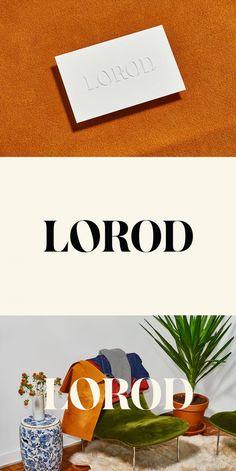 New Logo & Branding for Lorod. Design: Pentagram. Partner in Charge: Natasha Jen. Website Development: Big De Creative. Opinion: Richard Baird. Fonts Used: Austin Bold (Customised).