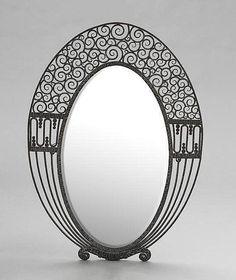 Art Déco - Miroir Ovale - Edgar Brandt