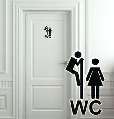 Trend Wandtattoo T raufkleber WC Badezimmer Toilette Flur Klo Fun Aufkleber Spr che h eBay