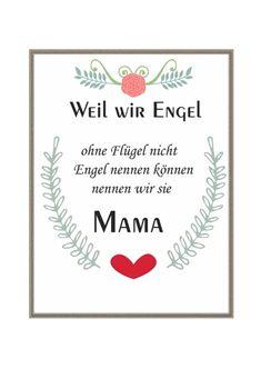 Tolles Bild mit positiver Affirmation Mama.   Kunstdruck wird OHNE Rahmen geliefert!