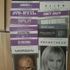 Just posted all these digital codes for sale on my ebay I never use them as I like to have physical items.  #horrorbluray #horror #ebay #forsalebyowner #forsale #it #arrival #getout #aliencovenant #prometheus #batman #harleyquinn #teentitans #justiceleague #dccomics #dcanimation #lego #legobatman