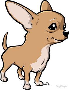 Resultado de imagen para chihuahua cartoon Chihuahua Drawing, Cartoon Dog Drawing, Animal Paintings, Animal Drawings, Chihuahua Puppies, Puppy Crafts, Dog Illustration, Dog Sweaters, Best Dog Breeds
