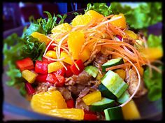 Citrus chicken salad....tart, sweet and heart breaking