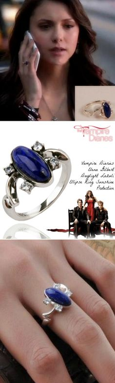 Vampire Diaries Elena Gilbert Daylight Lazuli Ellipse Ring Sunshine Protection! Click The Image To Buy It Now or Tag Someone You Want To Buy This For.  #VampireDiaries
