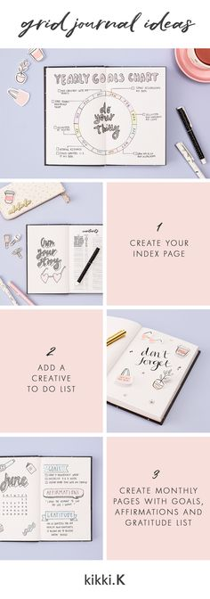 Bullet Journal Ideas | kikki.K Grid Journal | Stationery