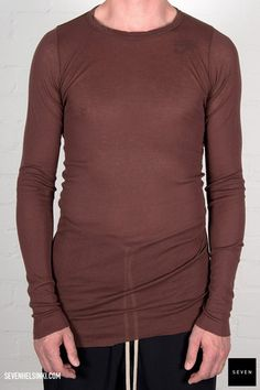 Rick Owens LONG SLEEVES RIB T - blood 166 € | Seven Shop