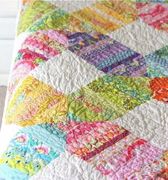 Quilting pattern with beautiful colors
