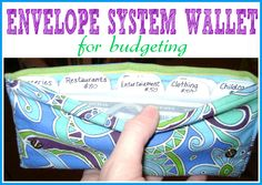 Sewing Tutorials | Make your own envelope system wallet with this sewing tutorial. This is a great tool to help stay on a budget!