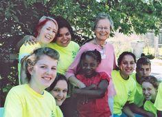 Sister Virginia Ripp at a neighborhood party in Milwaukee