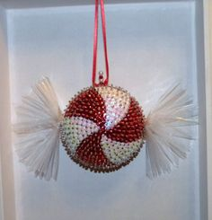 Starlite Mint Candy Christmas Tree Ornament or by sismeyer on Etsy, $25.00