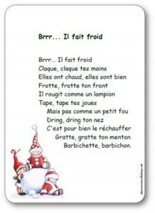 French Nursery Rhyme for winter Kindergarten Vocabulary, Kindergarten Books, Read In French, How To Speak French, Learn French, Core French, French Class, Sight Words, Winter