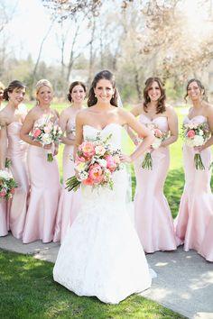 Pink Wedding Theme, Dream Wedding, Wedding Themes, Wedding Colors, Wedding Flowers, Black Wedding Dresses, Wedding Gowns, Pink Dresses, Wedding Bridesmaids