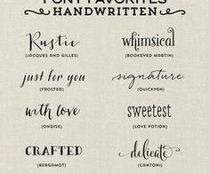 Font Favorites - Handwritten | Elegance
